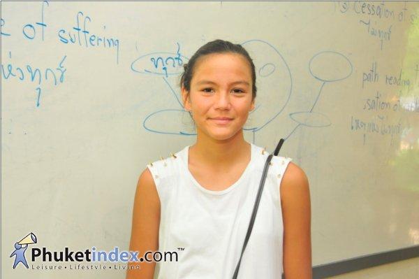 น้องสยามณี จากโรงเรียน Phuket International Academy