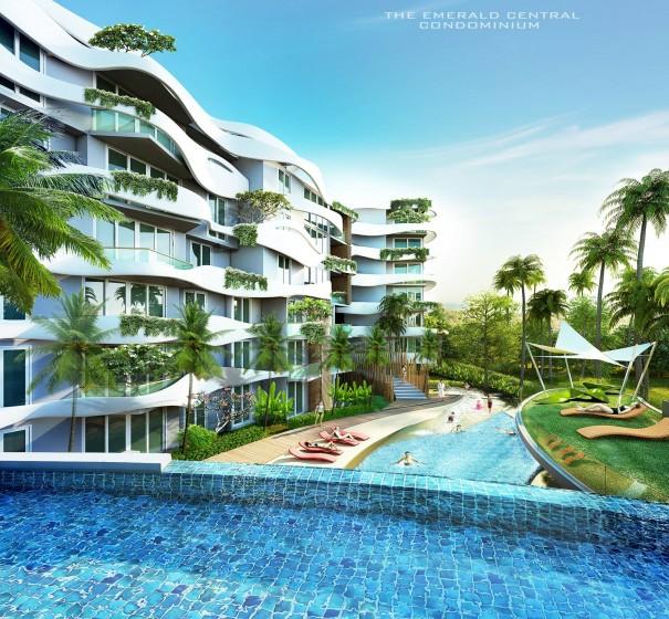 ดิเอ็มเมอร์รัล – เซ็นทรัล (The Emerald Central Condominium)
