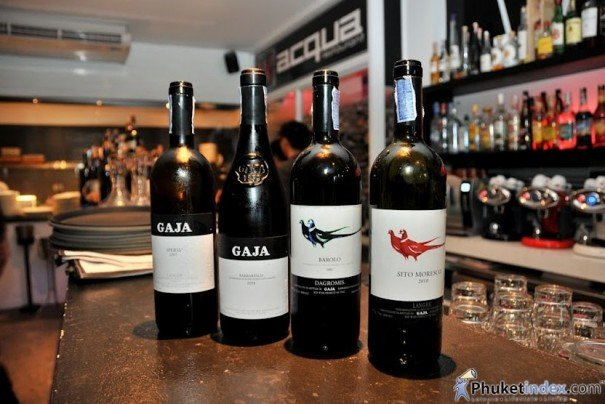 Acqua & Gaja Wines Wine Tasting Dinner