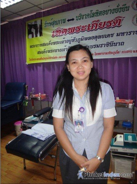 Ms.Amphi Sangwichit is Blood Bank Supervisor of Vachira Phuket Hospital