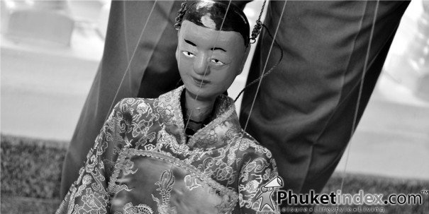 Chinese Hand Puppets in Phuket