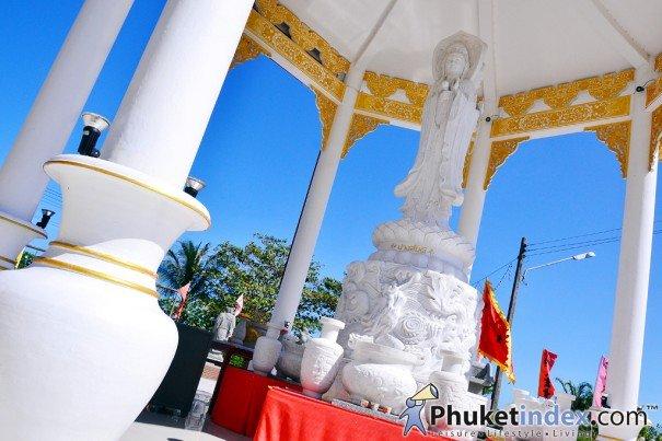Phuket's White Jade Guan Yin bodhisattva