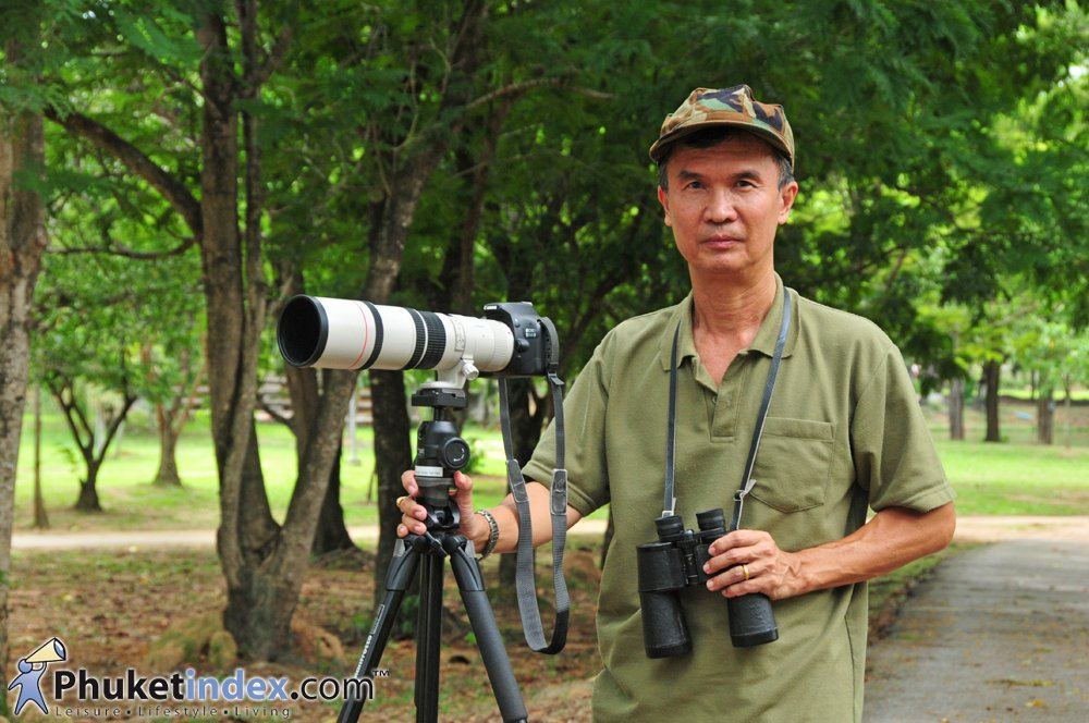 """Danai Plikomol"" Founder of Phuket Bird Club"