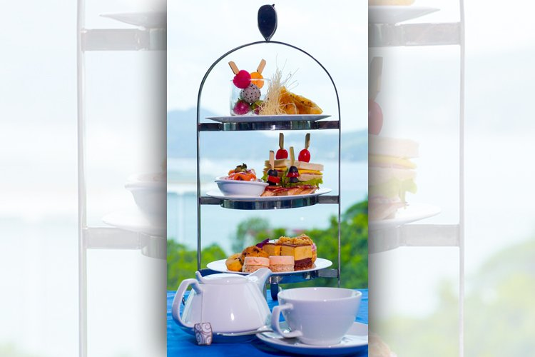 Afternoon tea set with ocean view at PANO