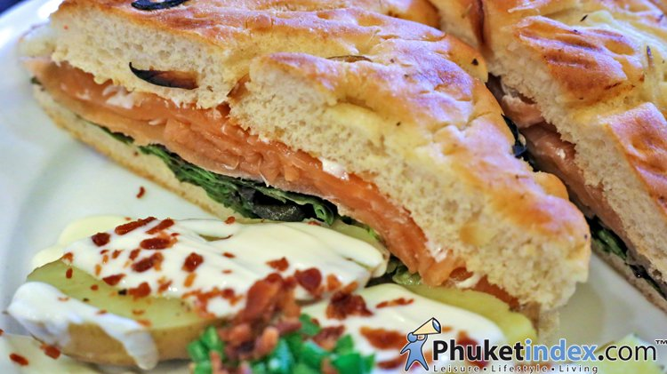 Food Recipes: Smoked Salmon Sandwich with Baked Potato