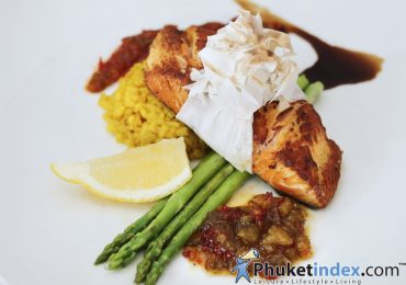 Signature dish: Filo Grill Maple Salmon Steak