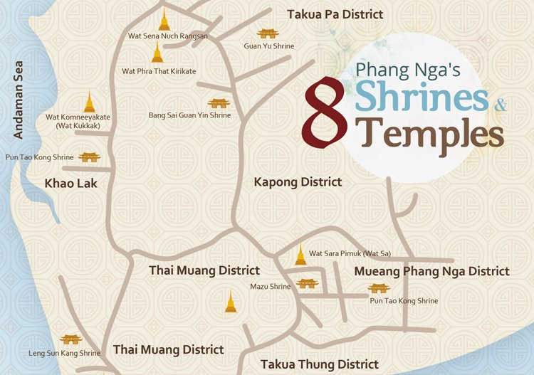 Phang Nga's Eight Shrines and Eight Temples